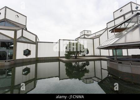 Suzhou, Chine - le 23 décembre 2016,bâtiment d'accès de Suzhou Museum, conçu par le célèbre architecte Ieoh Ming Banque D'Images