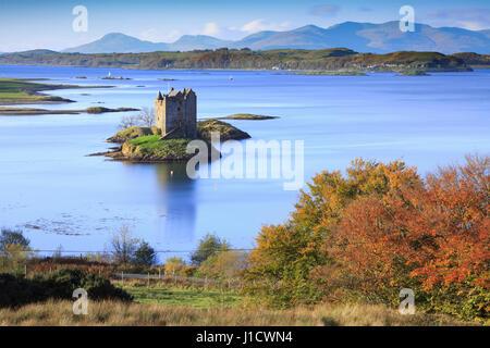Château de Stalker dans les Highlands écossais Banque D'Images