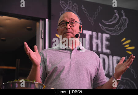 Gregg Wallace,la Foodie Lab,Ideal Home Show, Olympia, Kensington, London.UK 05.04.17 Banque D'Images