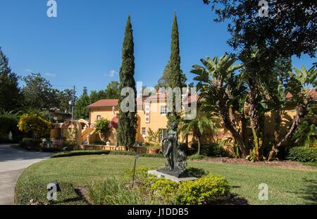 Winter Park en Floride Polasek Museum d'Albin Polasek sculpteur américain entrée paysage tchèque Banque D'Images