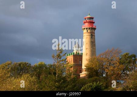 Les phares du Cap Arkona, Rügen, Mecklembourg-Poméranie-Occidentale, Allemagne Banque D'Images