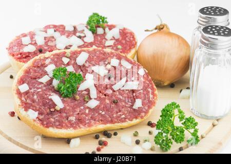 Rouleau de porc haché Banque D'Images