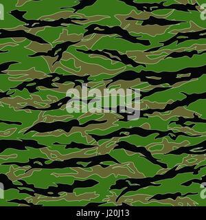 Camouflage Jungle Tiger Stripe patterns transparente. Vector Illustration.