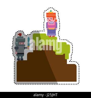 Décor pixélisé icône vidéoludique vector illustration graphic design Banque D'Images