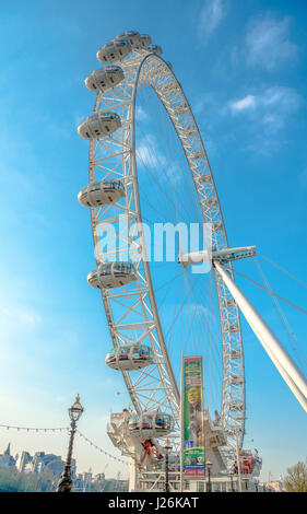 London Eye, London, Londres, Angleterre, Royaume-Uni Banque D'Images