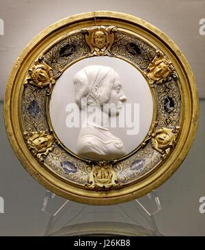 Médaillon et frame 1828 par Carl Wagner, Berlin (Ivory, Silver, nielliert ) Allemand Allemagne Banque D'Images