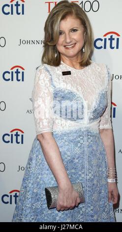 New York, USA. 25 avril, 2017. Arianna Huffington assiste à l'époque 100 Gala au Frederick P. Rose Hall le 25 avril Banque D'Images