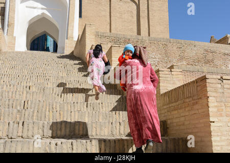 L'Ouzbékistan, Samarkand province, Samarkand, qui a fondé dans l'antiquité et faite par Timur le Grand à la capitale. Banque D'Images