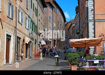 Centre de la vieille ville d'Urbin, Marches, Italie