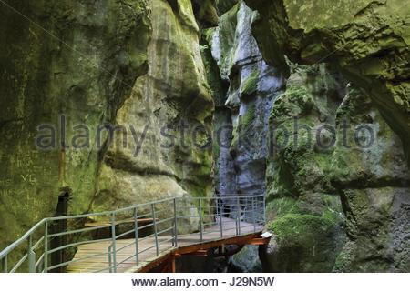 La France, le sud-est de la France, près d'Annecy, curiosité naturelle des Gorges du Fier, pareidolia du 'petit Banque D'Images