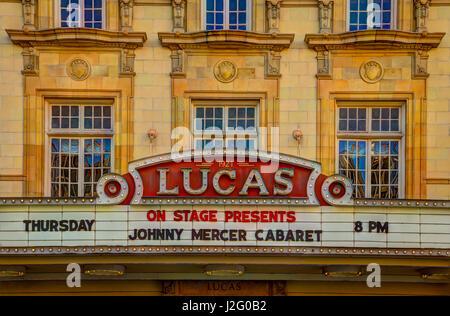 USA, Georgia, Savannah, Lucas Theatre dans le quartier historique. Banque D'Images