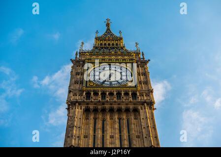 Big Ben, Houses of Parliament, City of Westminster, London, région de London, Angleterre, Royaume-Uni Banque D'Images