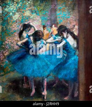 Degas. 'Danseuses' bleues (Blue Dancers) par Edgar Degas, huile sur toile, c.1893
