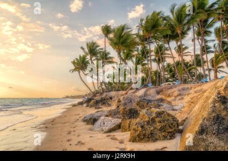 Matin à Punta Cana. Banque D'Images