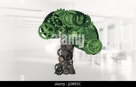 Environnement Eco green concept présenté par arbre comme mecha de travail Banque D'Images