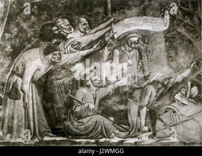 Buonamico Buffalmacco. Triomphe de la mort. détail.Camposanto, Pise. Banque D'Images