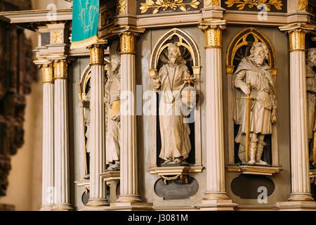 Riga, Lettonie - Juillet 2, 2016: l'intérieur de la cathédrale de Riga Dome église cathédrale. Éléments décoratifs, Banque D'Images