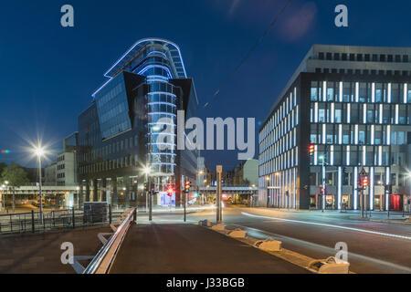 Kronprinzen Bridge, l'architecture moderne, pont Calatrava, Berlin, Allemagne Banque D'Images