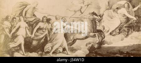 L'Aurora, peinture par Guido Reni, Rome, Italie Banque D'Images