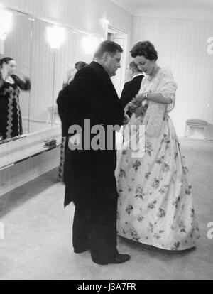Franz Josef Strauss et Marianne Strauss, 1958 Banque D'Images