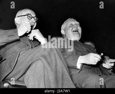 Fritz Schaeffer et Ludwig Erhard, 1950