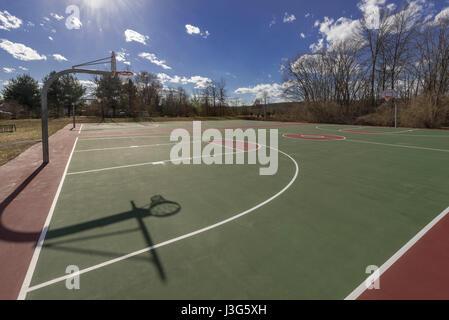 Vide de basket-ball Jeux, New Jersey, USA Banque D'Images