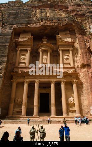 La cité perdue de Petra Jordanie Moyen Orient Banque D'Images