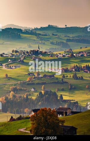 Vue panoramique, Appenzell, Appenzell, Suisse Banque D'Images