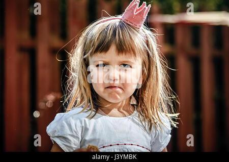Belle petite fille princesse Banque D'Images