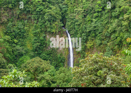 La Fortuna de San Carlos cascade vue rapprochée au Costa Rica Banque D'Images