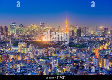 Tokyo, Japon ville. Banque D'Images