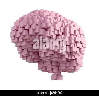 Cerveau humain - intelligence et mémoire concept 3D illustration Banque D'Images