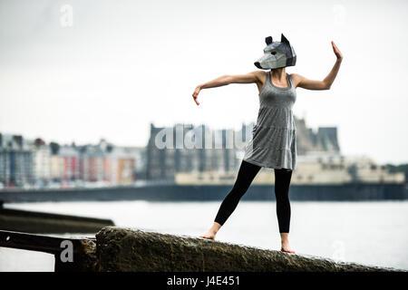 Aberystwyth, Pays de Galles, Royaume-Uni. 12 mai, 2017. Dernière année d'études théâtrales de l'université d'Aberystwyth Banque D'Images