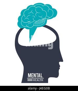 Cerveau tête humaine, de la santé mentale cours Conception de l'innovation Banque D'Images