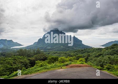 Belvedere surplombent, Moorea, îles de la société, Polynésie Française, Pacifique Banque D'Images