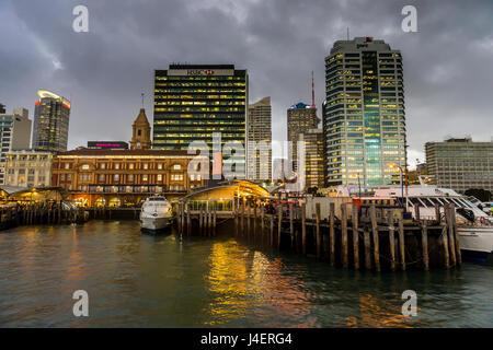 L'horizon de l'île du nord, Auckland, Nouvelle-Zélande, Pacifique Banque D'Images