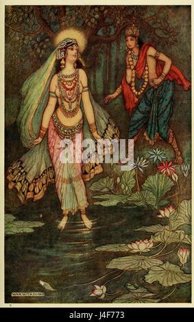 Déesse Ganga Shantanu répond aux Banque D'Images