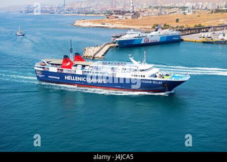 Hellenic Seaways Grebnos Stonehouse (Hellas) La ville portuaire de Pirée dans la région de l'Attique en Grèce sur Banque D'Images