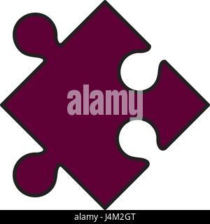 Symbole de pièce de puzzle Banque D'Images