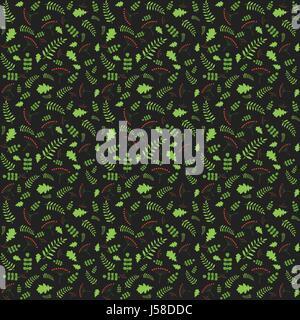 Avec motif feuilles d'automne des arbres différents. Vector illustrati Banque D'Images