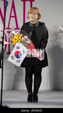16 mai 2017 - Tokyo, Japon - un représentant de la Corée au cours de l'ongle Forum 2017 au Tokyo Big Sight, le 16 Banque D'Images