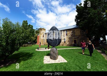 Ange de Hahndorf, Sculpture, Académie Hahndorf Hahndorf, Australie du Sud Banque D'Images