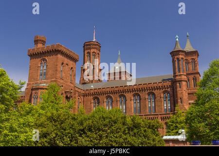 WASHINGTON, DC, USA - Smithsonian Institution Building, connu sous le nom de Château. Banque D'Images