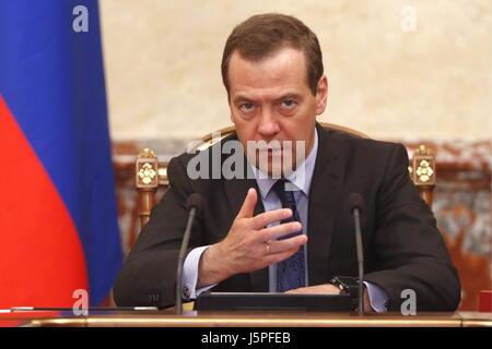 Moscou, Russie. 18 mai, 2017. Le premier ministre russe Dmitri Medvedev lors d'une réunion des représentants du Banque D'Images