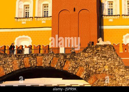 Moscou, Russie. 18 mai, 2017. Météo russe, Moscou, chaud et ensoleillé. Jeudi 18 Mai, 2017. La première journée Banque D'Images