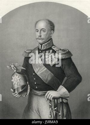 Nicolas I (1796-1855), Empereur de Russie, Portrait, 1855 Banque D'Images