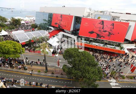 Cannes, France. 19 mai, 2017. Cannes, France - 18 mai 2017: Festival du Film de Cannes Panorama | utilisée dans Banque D'Images