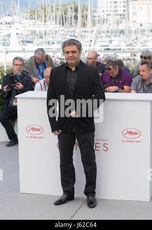 Cannes, France. 19 mai, 2017. Réalisateur Mohammad Rasoulof pose pour un photocall du film 'Lerd (un homme d'intégrité)' Banque D'Images
