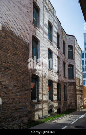 Bâtiments le long street, Minneapolis, Hennepin County, Minnesota, USA Banque D'Images