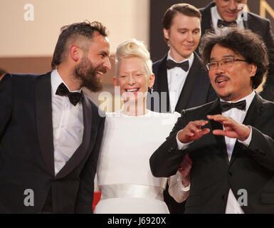 Cannes, France. 19 mai, 2017. à la projection de gala Okja, à la 70e Festival de Cannes vendredi 19 mai 2017, Cannes, Banque D'Images